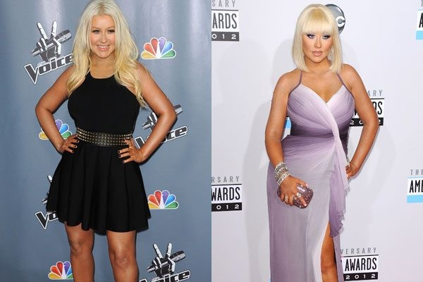 Christina Aguilera before and after