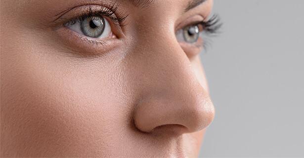 Pretty nose closeup, nose job model 01, Cosmos Clinic