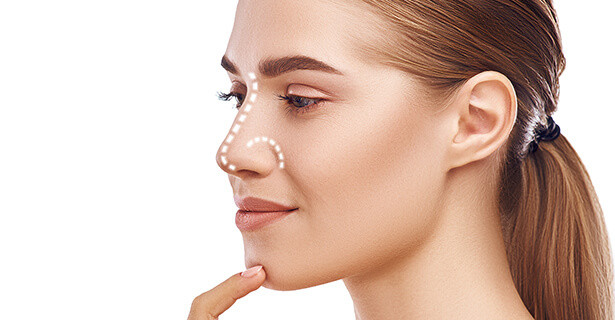 Young female with a perfect nose, Cosmos Clinic nose reshaping 02